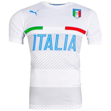 03647ed375 Camisa Itália Treino Branco Puma Masculina - TuttiSports - De ...