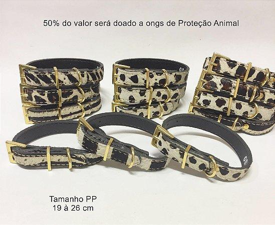 Coleira ANIMAL PRINT - 50% para ONG escolhida