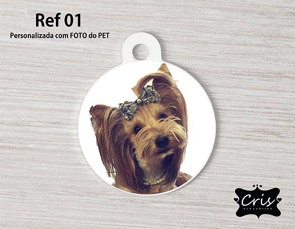 Plaquinha de Identificação PERSONALIZADA PET