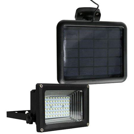 Refletor Solar 60 LEDs Branco Frio 6000k Para Solo / Gramado ou Parede