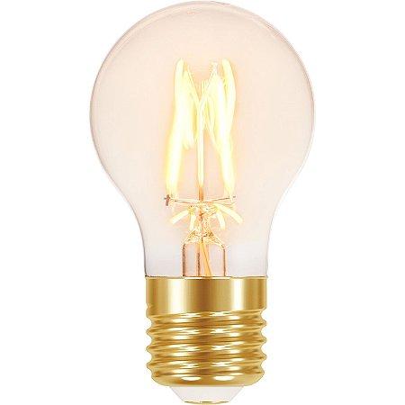 Lâmpada Retrô Filamento Vintage A60 LED 4W Âmbar Autovolt