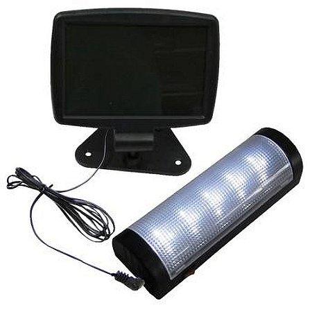 Luminária Solar de Teto e Parede 5 LED's Branco Frio 6500K