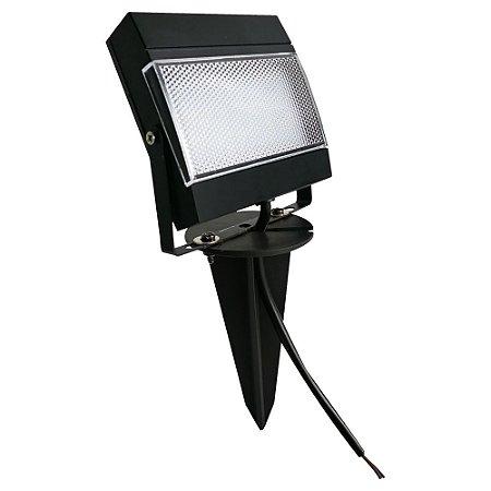 Refletor Holofote ABS com Espeto de Jardim LED 7,5W Bivolt IP65