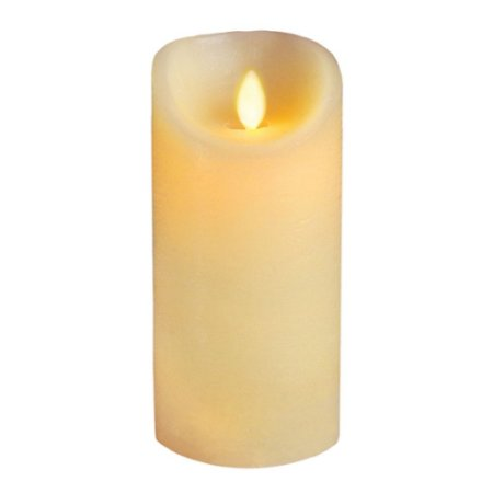 Vela LED Decorativa Chama Móvel Realista 15cm Amarela