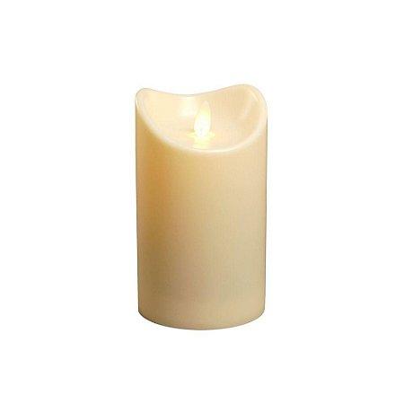 Vela LED Decorativa Chama Móvel Realista 12,5cm Amarela