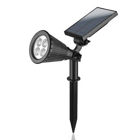 Luminária Solar Spot com Espeto de Jardim 4 LEDs RGB