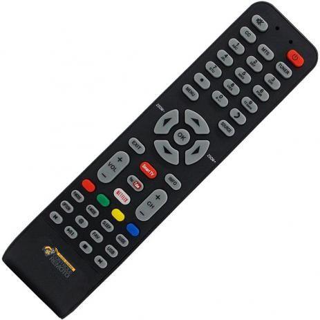 Controle Remoto TV LED SEMP TCL Teclas Netflix e Youtube