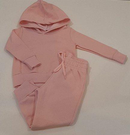 Conjunto Infantil Rosa com Capuz - Pclme
