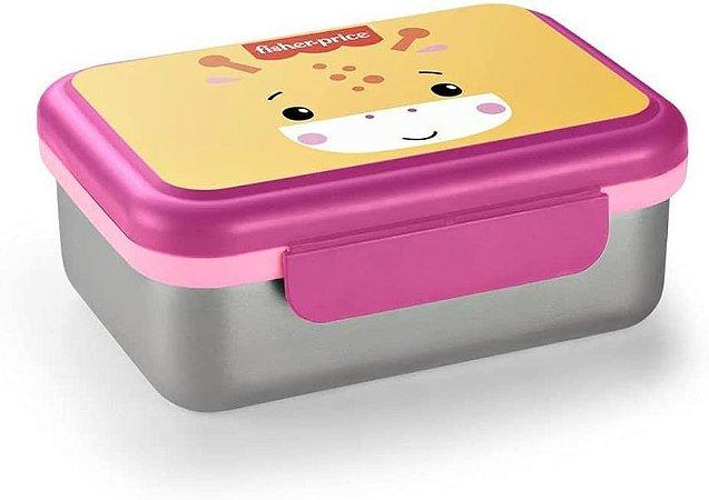 Bento Box em Aço Inox Hot & Cold Rosa - Fisher Price