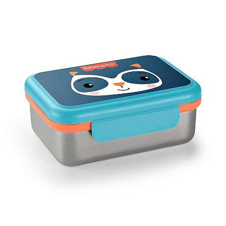 Bento Box em Aço Inox Hot & Cold Azul - Fisher Price