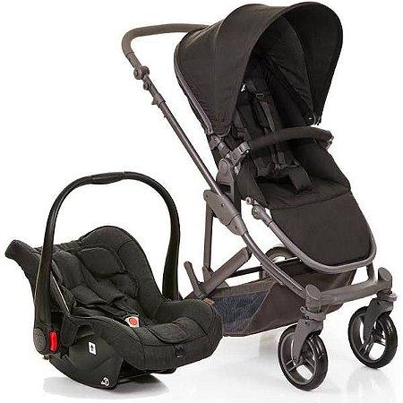 Kit Passeio Carrinho de Bebê, Bebê Conforto e Moisés COMO4 Woven Black - ABC Design