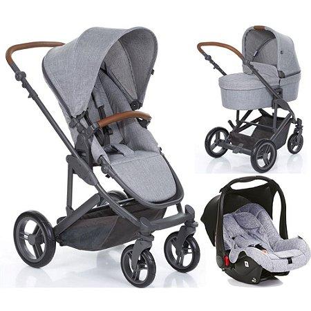 Kit Passeio Carrinho de Bebê, Bebê Conforto e Moisés COMO4 Woven Grey - ABC Design