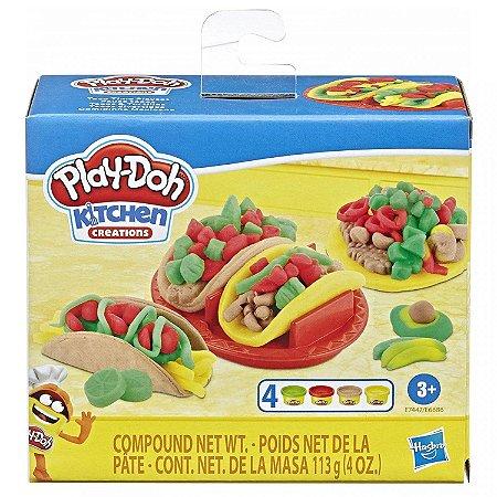 Brinquedo MASSINHA DE MODELAR PLAY-DOH Kitchen Creations Comidinha Mexicana Taco + 3 anos - Hasbro