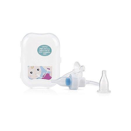Acessório de Higiene ASPIRADOR NASAL com Filtro e Estojo Transparente - Nûby