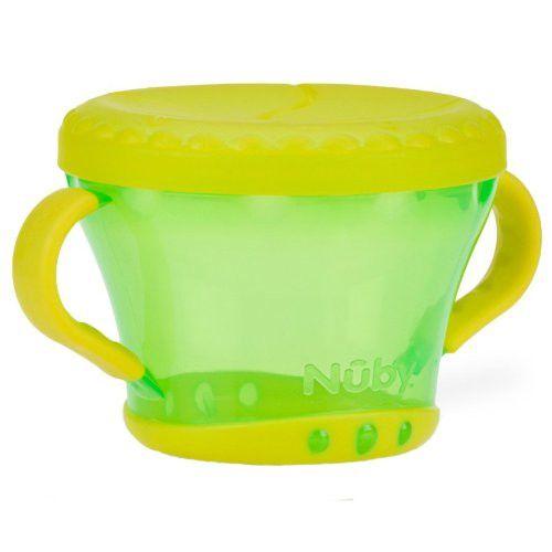 Pote Porta Lanchinho 1 un Verde e Amarelo - Nûby