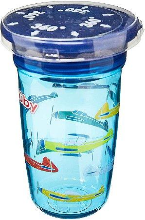 Copo de Bebê Tritan 360° 300ml Azul +12m - Nûby