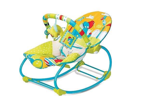 Cadeira de Descanso e Balanço Rocker 18kg Elefante Colorida Mastela