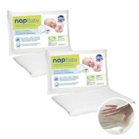 Kit 2 Travesseiros Baby Viscoelástico Espuma NASA - NAP Baby