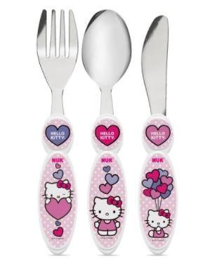 Talheres Infantis de Inox Hello Kitty - NUK