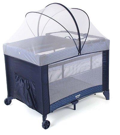 Berço Desmontável Portátil Sereno Blue Hail - Infanti