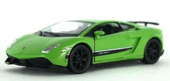 Brinquedo Colecionável Lamborghini Gallardo SuperLeggera Verde 1:32 - Maisto