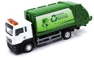Miniatura Caminhão de Lixo MAN TGS 1:64 Junior Truck - California