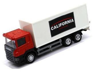 Miniatura Caminhão Baú Scania P-Series 1:64 Junior Truck - California