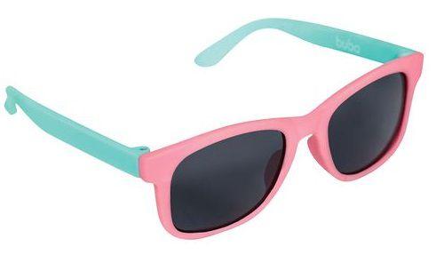 Óculos de Sol Infantil com Armação Flexível Rosa e Verde Água - Buba