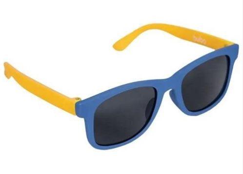 Óculos de Sol Infantil com Armação Flexível Azul e Amarelo - Buba