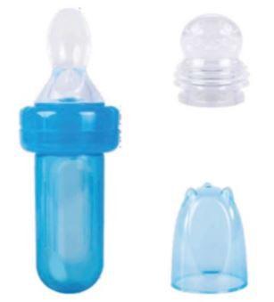 Kit Porta Frutinha Com Colher Dosadora Azul - Buba