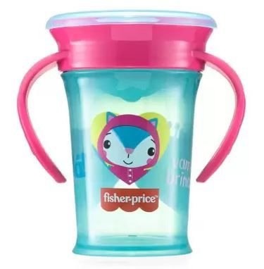 Copo de Treinamento 360º First Moments 210ml Rosa Candy - Fisher Price