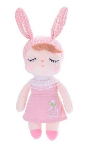 Boneca METOO Mini Doll ANGELA Jardineira Rosa 20cm - Metoo