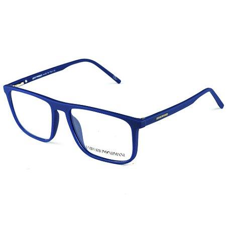 Armação De Grau Quadrado Azul - World Glasses O mundo do Óculos f9ceb1644c