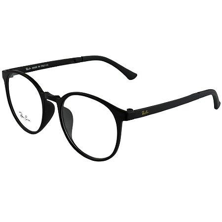 Armação De Grau Redondo Retro Não Quebra Silicone - World Glasses O ... 55902998be
