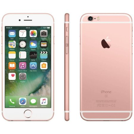 SMARTPHONE APPLE IPHONE 6S 16GB OURO ROSA