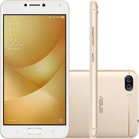 "SMARTPHONE ASUS ZENFONE 4 MAX ZC554KL 3RAM 32GB TELA 5.5"" DUAL DOURADO"