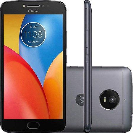 """SMARTPHONE MOTOROLA MOTO E4 PLUS XT1773 2RAM 32GB TELA 5.5""""  LTE DUAL GRAFITE TITANIUM"""