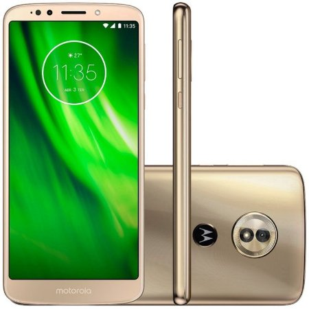 "SMARTPHONE MOTOROLA MOTO G6 PLAY XT1922-10 3RAM 32GB TELA  5.7"" LTE DUAL DOURADO"