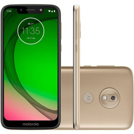 "SMARTPHONE MOTOROLA MOTO G7 PLAY XT1952-2 2RAM TELA 5.7"" 32GB LTE DUAL DOURADO"