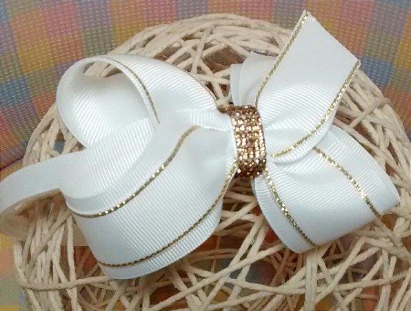 Tiara Branco com Dourado