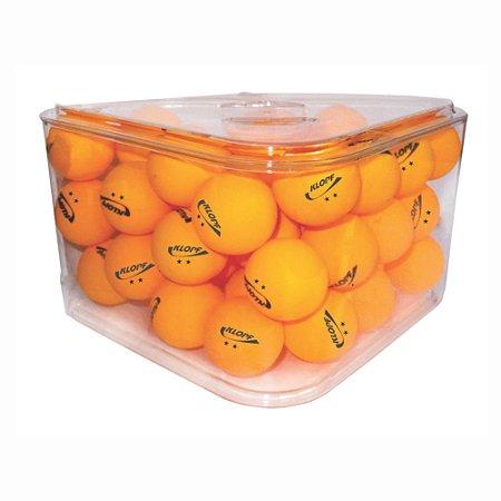 Pote com 36 Bolas Laranjas de Tênis de Mesa Ping Pong Klopf 5081