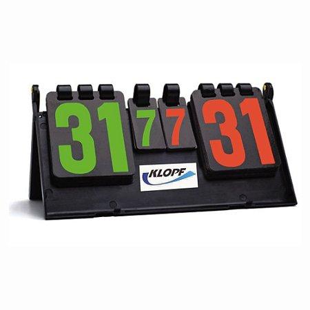 Marcador de Pontos para Tênis de Mesa Ping Pong e Outros Esportes Klopf 5086