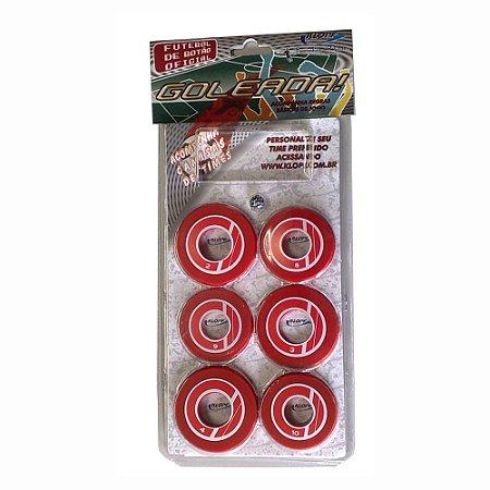 Jogo de Futebol de Botão Vermelho e Branco Klopf 4092