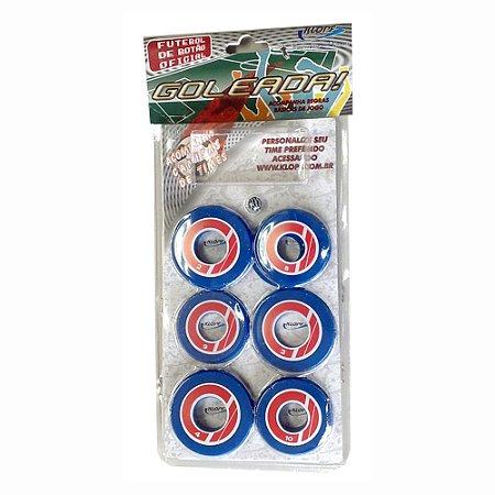 Jogo de Futebol de Botão Azul Vermelho e Branco Klopf 4096