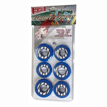 Jogo de Futebol de Botão Azul Preto e Branco Klopf 4099