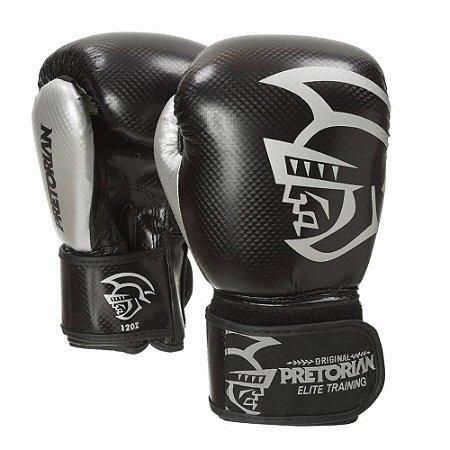 Luva de Boxe / Muay Thai Pretorian Elite Training 12 OZ Preta e Cinza