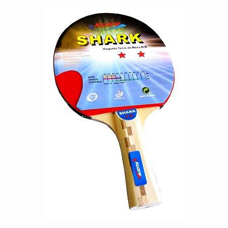 Raquete de Tênis de Mesa / Ping Pong 2 Estrelas Klopf 5015 Shark