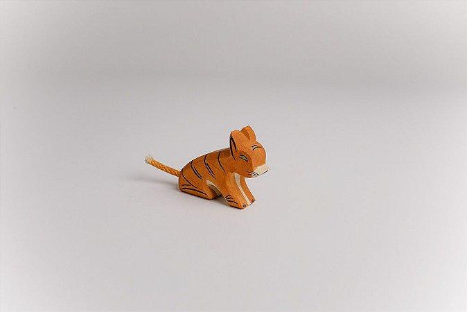 Tigre filhote sentado