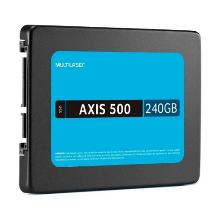 "SSD Multilaser 2,5"" 240GB AXIS 500 Gravação 500 MB/S SS200"