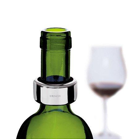 Anel Antigotejamento em Aço Inoxidável Para Garrafa de Vinho Brinox
